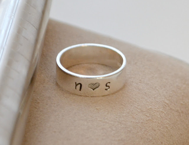 Metal Stamped Rings by Amy Latta of One Artsy Mama