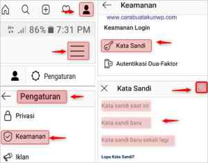 Cara Ganti Password Instagram Ig Lewat Hp