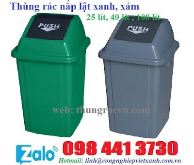 Thùng rác nắp lật 25 lít 40 lít 100 lít