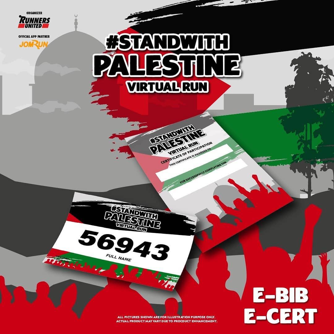 e-Bib 💳  Stand With Palestine Virtual Run - Indonesia • 2021