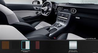 Nội thất Mercedes AMG SLC 43 2018 màu Đen/Trắng Pearl Platinum 865