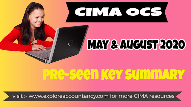 CIMA OCS May & August 2020 Pre-seen  Key Summary - ChargeIT