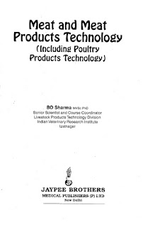 Meat and Meat Products Technology Including Poultry Products Technology