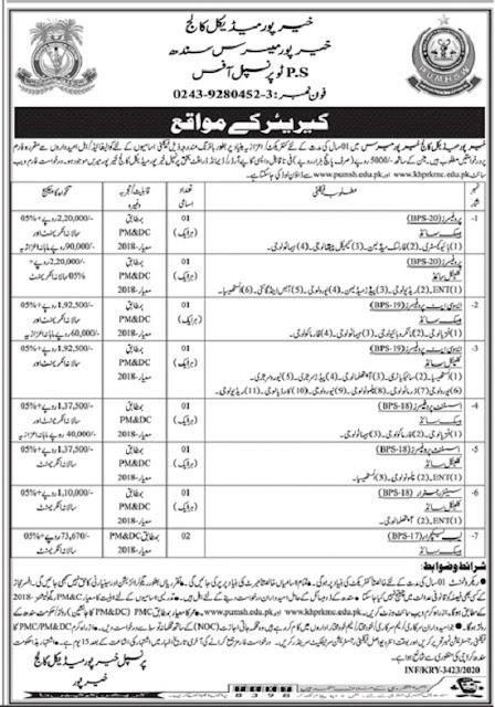 khairpur-medical-college-kmc-jobs-2020-advertisement