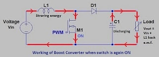 Working of Boost Converter