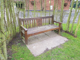 Bench at Vickersway Park in Northwich