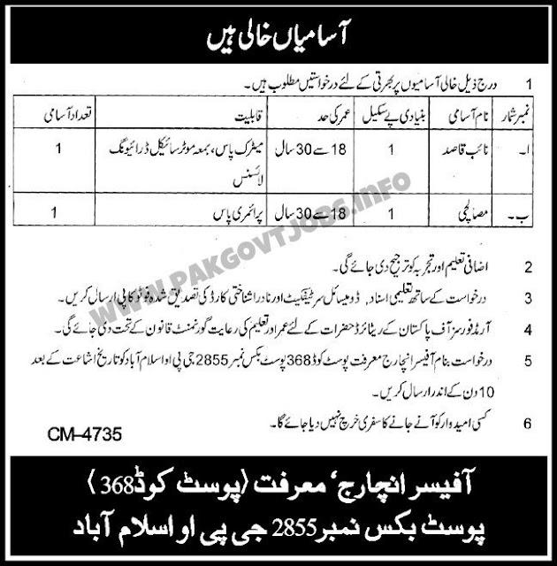 General Post Office (GPO) Islamabad Jobs 2019