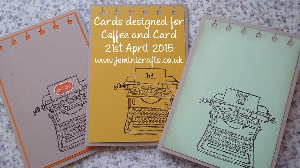 www.jeminicrafts.co.uk Coffee and Card
