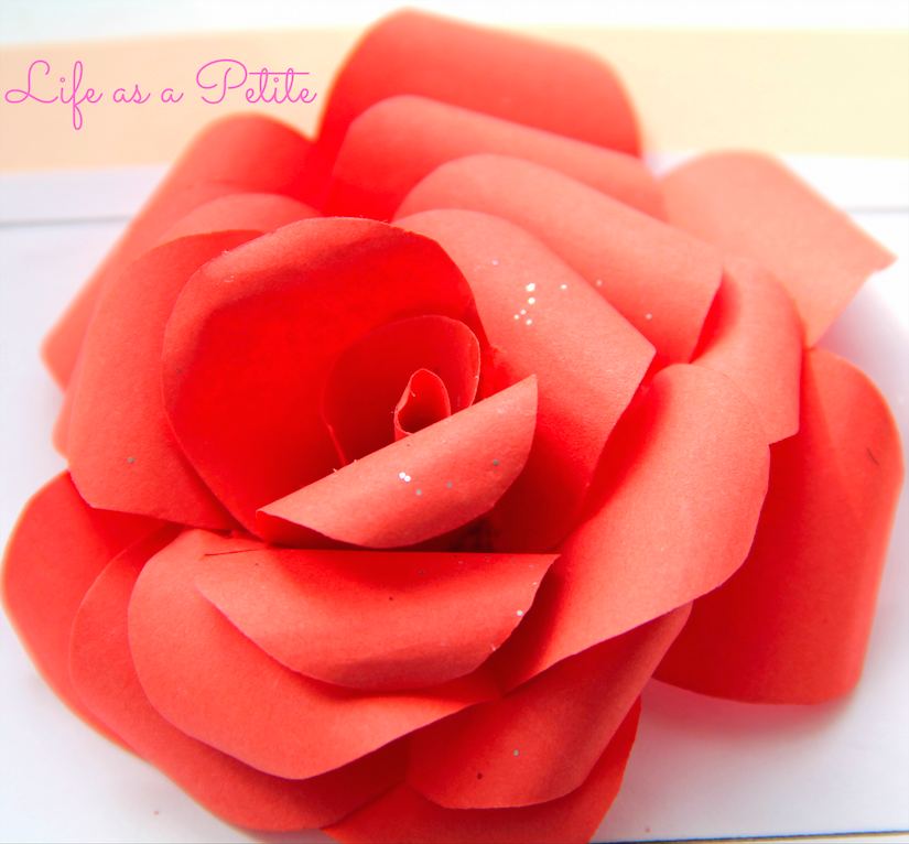 DIY Gift Idea: Origami Rose (Life as a Petite)