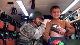"""فيديو يوثق أنشطة الجيش التركي الخدمية والإغاثية في منطقة""""نبع السلام"""""""