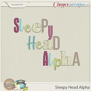 Creative Team, Annemarie, for GingerScraps – Buffet Goodies for March   (Save 50%) -  Sleepy Head  by JoCee Designs and Coordinating Freebie and March 2019 Buffet Challenge