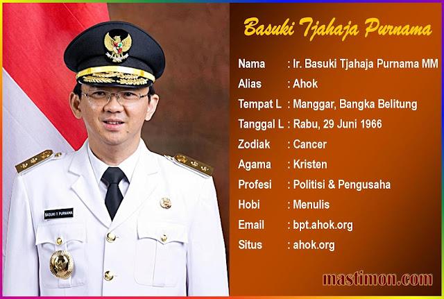 Profil dan Biodata Lengkap Basuki Tjahaja Purnama (AHOK)