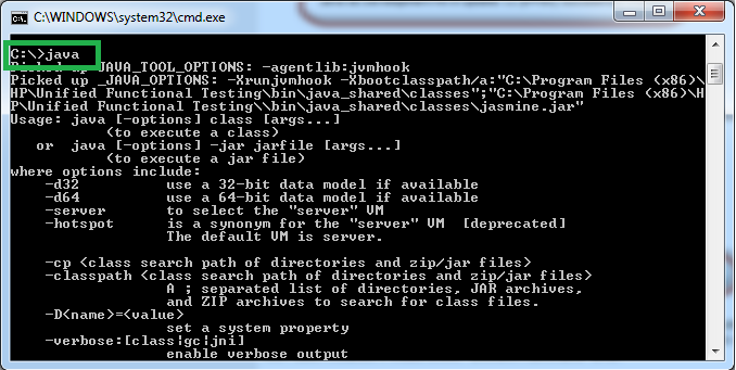 Cmd prompt for Java