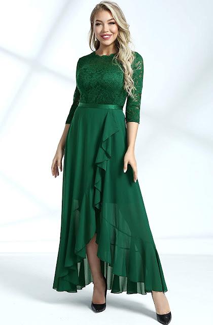 Pretty Lace Chiffon Bridesmaid Dresses