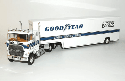 ford clt 9000 1:43 good year, camiones 1:43, camiones americanos 1:43, coleccion camiones americanos 1:43, camiones americanos 1:43 altaya españa