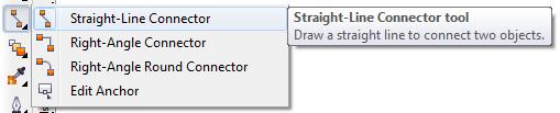 Mengenal bagian CorelDRAW - Straigth-Line Connector Tool