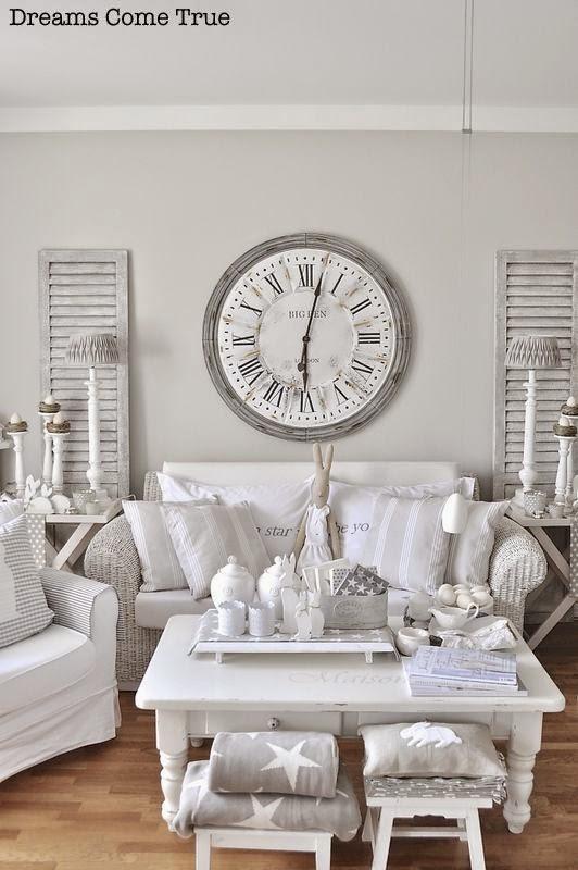 9 fotos de decoraci n de salas en blanco - Decoraciones en color plata ...