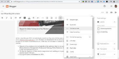 New Blogger Content Authoring Features