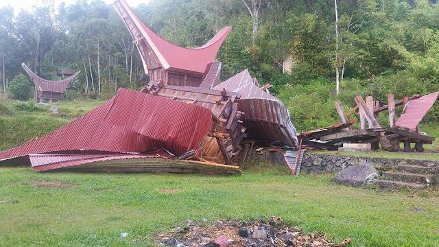 Dua Kecamatan di Toraja Utara Porak- poranda Diterjang Puting Beliung