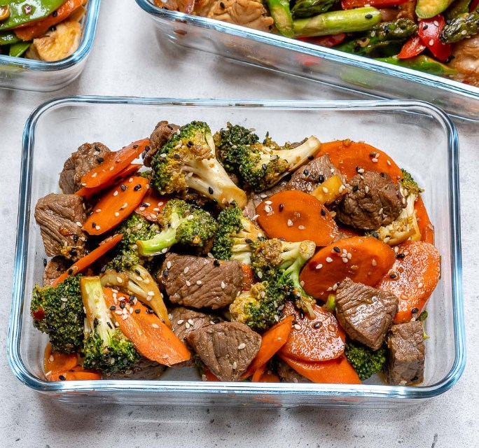 Super Easy Beef Stir Fry for Clean Eating Meal Prep #healthy #keto