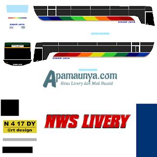 Livery bus titanium trisakti sinar jaya