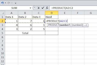 perkalian di excel dengan fungsi product