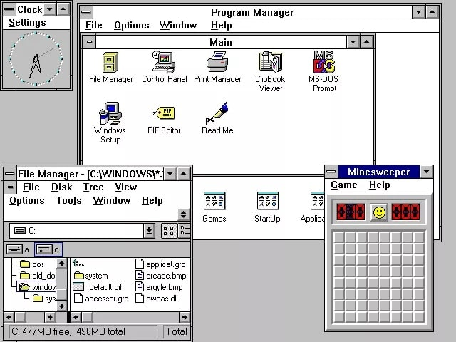 Tampilan Windows 3.0 | Gaptogeek