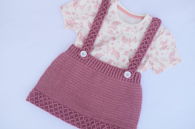 1 - Crochet Imagen Falda con tirantes a crochet y ganchillo por Majovel Crochet paso a paso facil sencillo familia batera punto alto punto bajo doble
