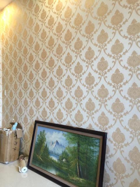 Giấy dán tường họa tiết phù hợp nội thất