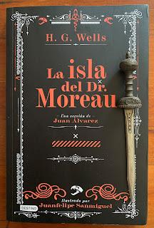Portada del libro La isla del dr. Moreau, de H. G. Wells y Juan Álvarez