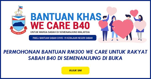 bantuan we care sabah