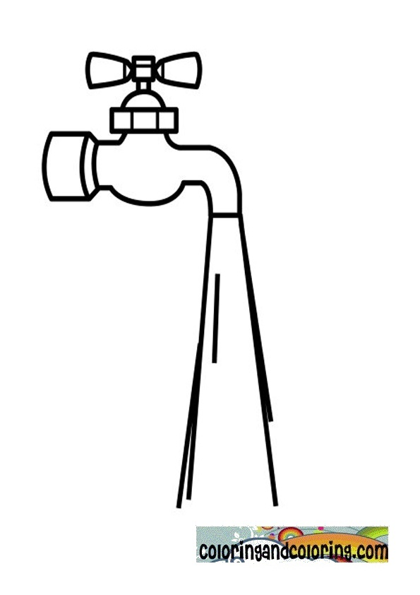 Mobile/tap Water Coloring Page Coloring Pages