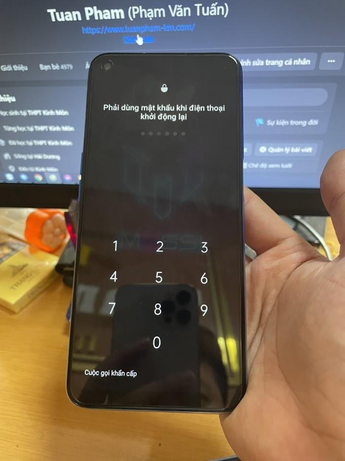 Oppo A54   CPH2239 xóa mã bảo vệ - xóa mật khẩu màn hình thành công.