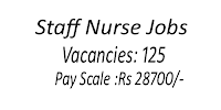 Staff Nurses Recruitemnt-125 Vacancies