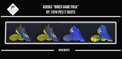 This includes the latest collection of new boots for  Update, PES 2017 Adidas Inner Game Pack 2019 by FuyuPES17 Boots