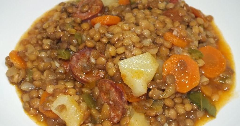 La cocina de toni lentejas con chorizo r pidas for Cocinar lentejas de bote