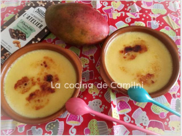 Crema catalana de mango (La cocina de Camilni)