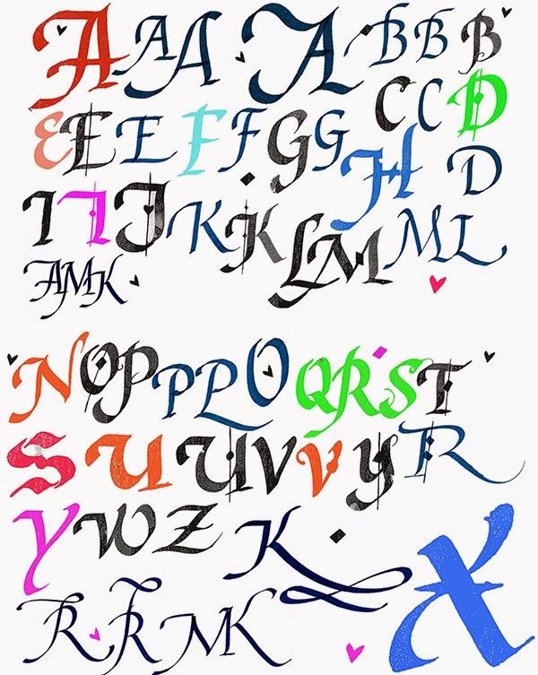 Kalligrafia Aakkoset