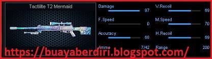 Spesifikasi damage Sniper Tactilite T2 Mermaid PB Zepetto