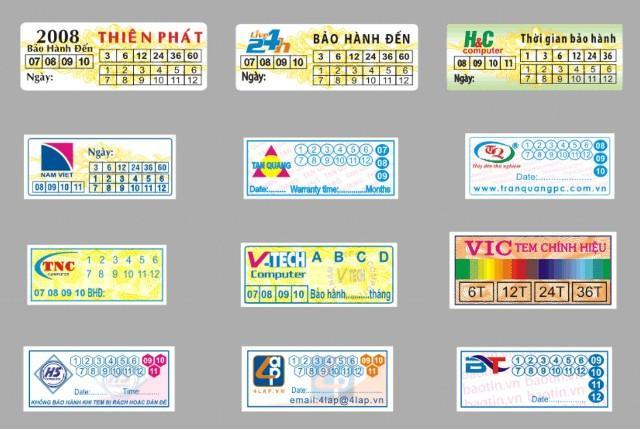 In tem vỡ, tem bảo hành chất lượng giá tốt tại Hà Nội, in hồng hạc