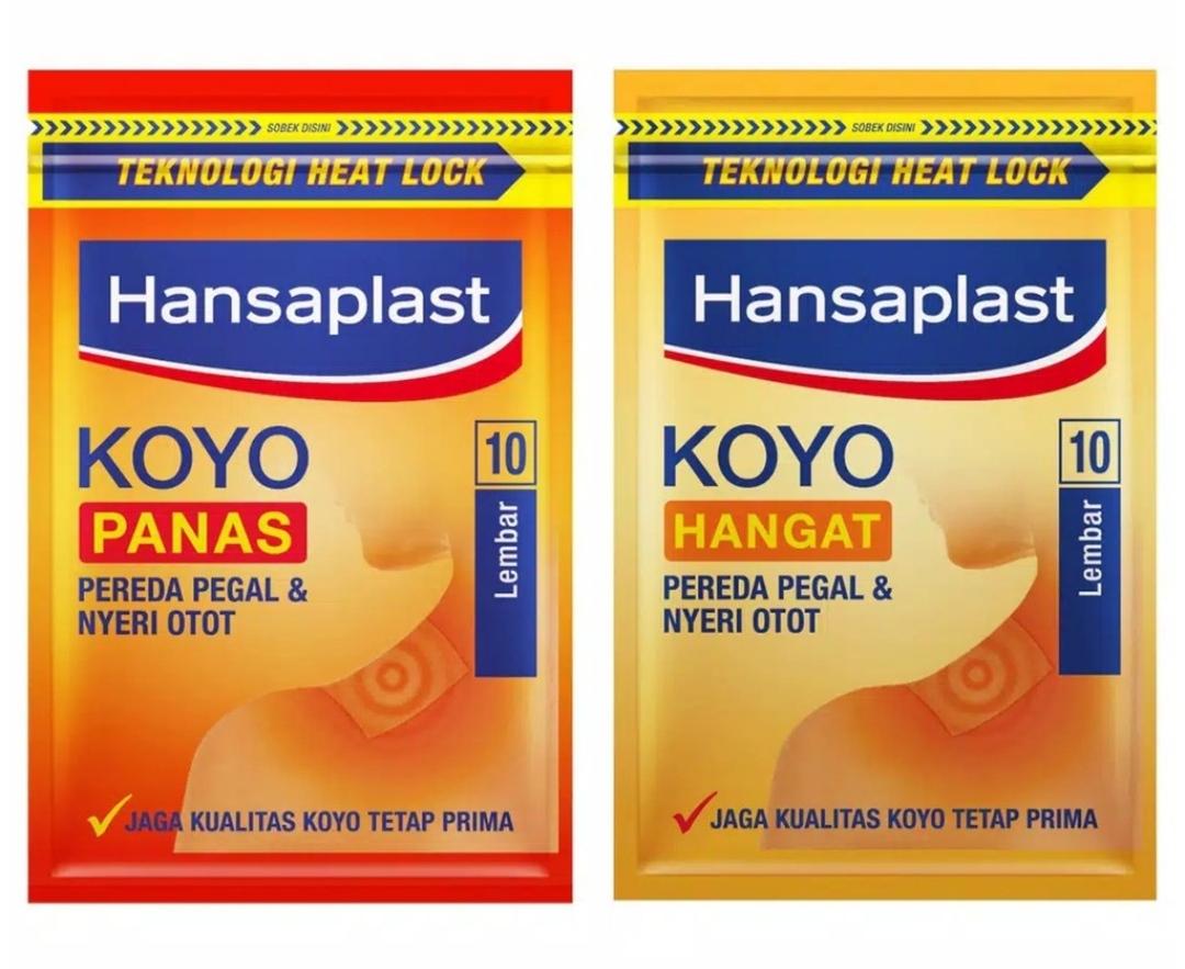 Koyo sendiri sudah banyak digunakan oleh masyarakat indonesianya dan saat ini sudah banyak sekali produk koyo yang diperjual belikan. Salah satu produk koyo yang cukup terkenal namanya adalah koyo hangat hansaplast.