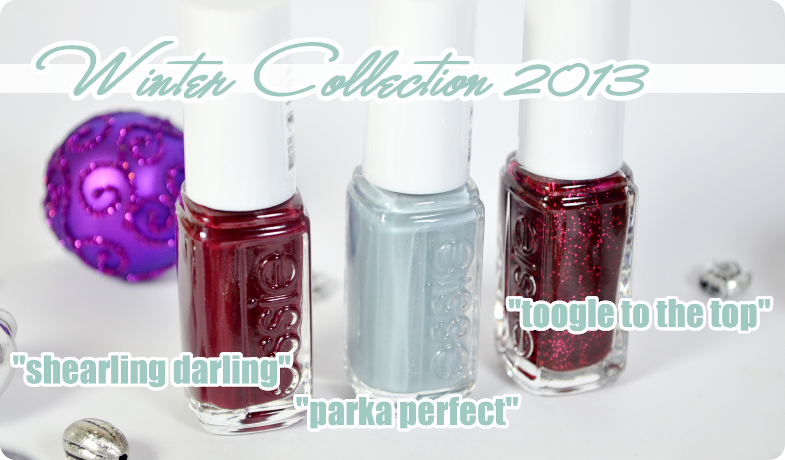 Review essie Winter Collection 2013 - Swatches