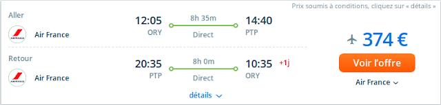 Tarif voyage Guadeloupe au départ de Paris avec Air France