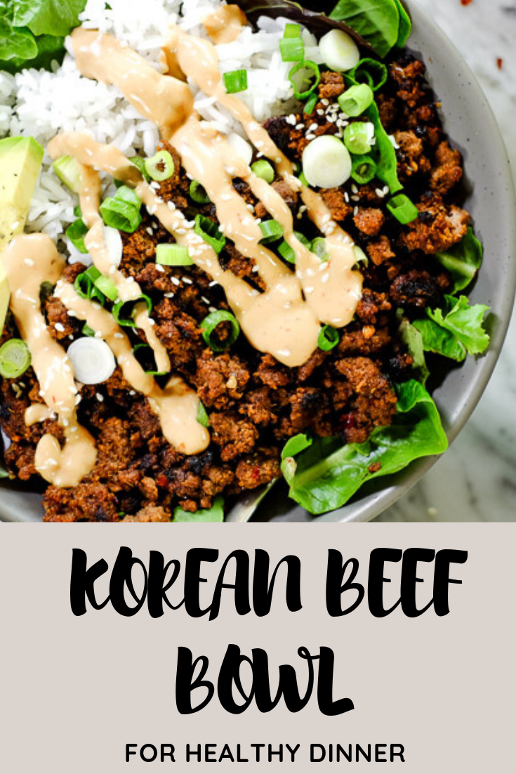 Korean Beef Bowl #dinner #healthyrecipes