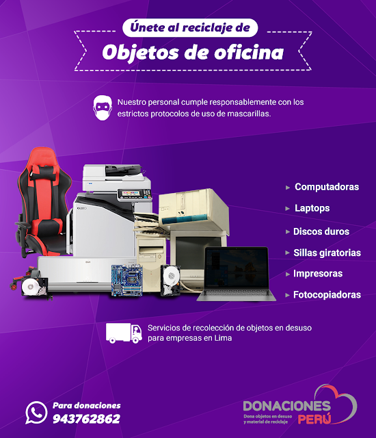 Únete al reciclaje de objetos de oficina