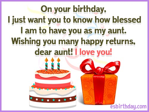 Happy Birthday Messages For Aunt