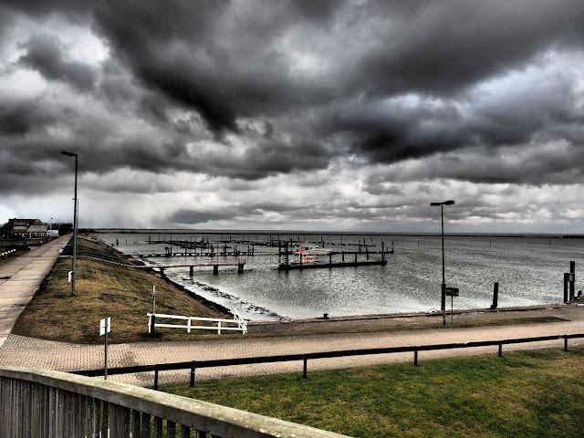 Langeoog, Hafen, Nordsee, Watt, Olympus, Dramativ Tone