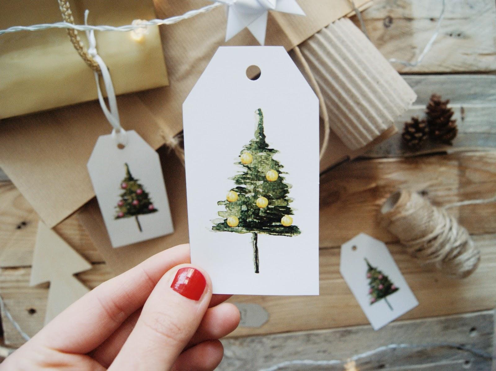 etykiety świąteczne do prezentów