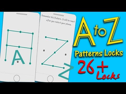 A to Z patters Lock || 26+ Locks