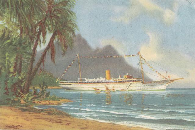 Caribbean Cruise of Stella Polaris painting